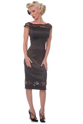 платье саваж черное