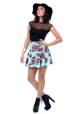 юбка-колокольчик с завышенной талией фото