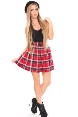 Платья с короткой юбкой в складку