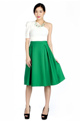 Зеленая юбка с чем носить