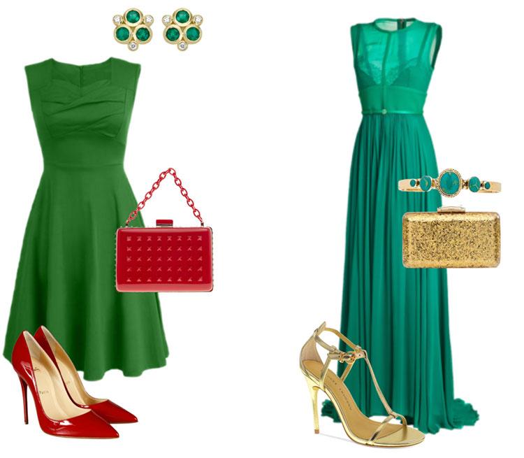 Обувь под зеленое платье