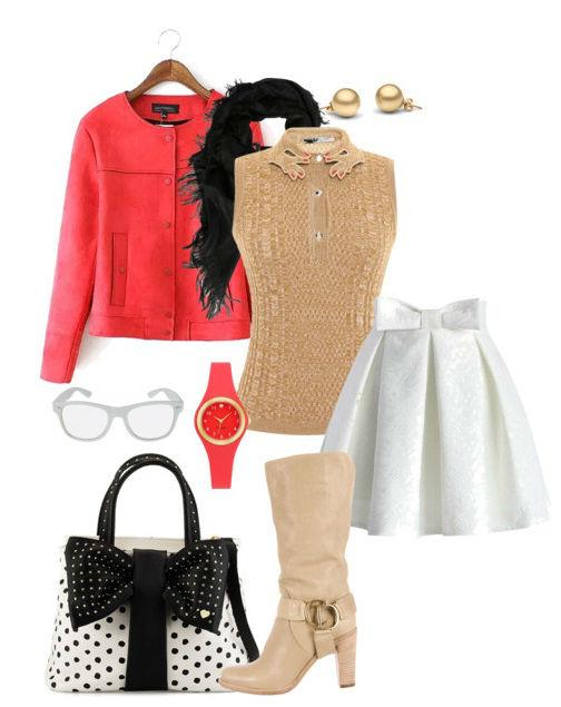 Красное пальто. с чем носить