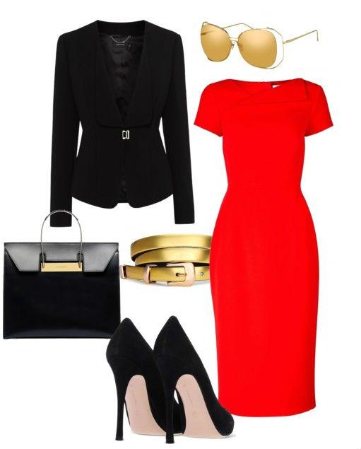 Короткое красное платье с чем носить