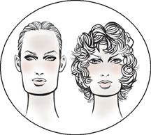 Вытянутому лицу нужен парик с пышными волосами