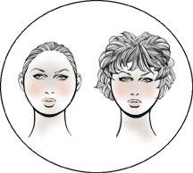 Круглая форма лица характеризуется