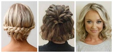 Красивые прически с косами на средние волосы: фото
