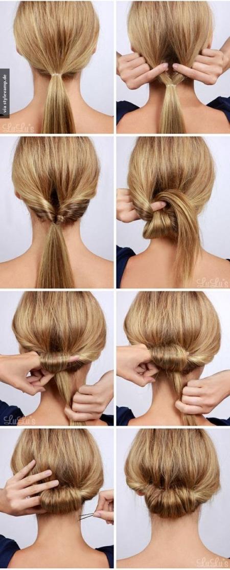 Быстрые причёски на каждый день своими руками на средние волосы пошагово