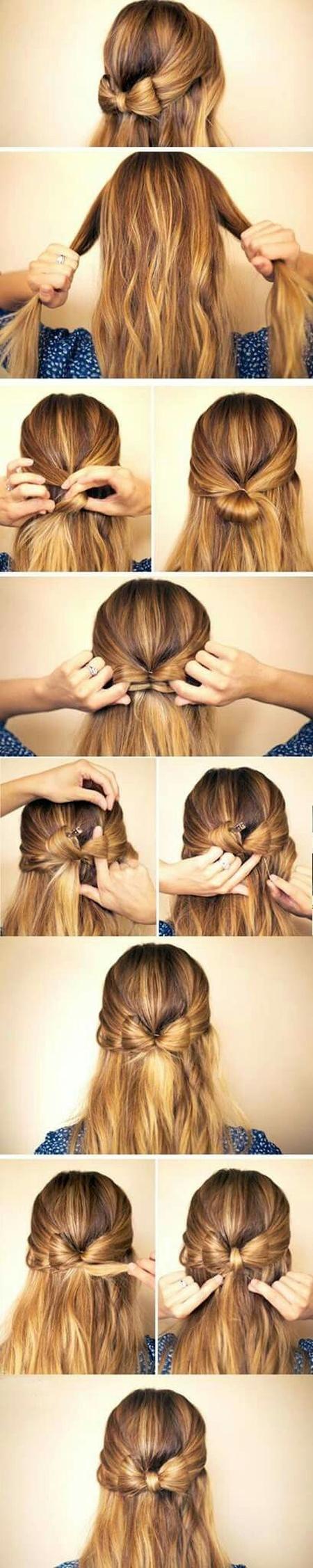 Бантик из волос: фото