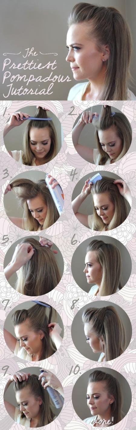 Начес на средние волосы: фото