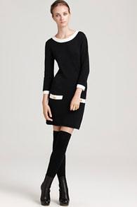 С чем носить платье-свитер
