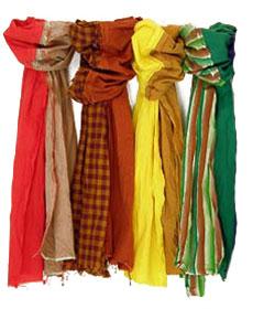 материалы изготовления платков и шарфов