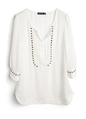 ce54ca75175 ... Задорно и по-мальчишески смотрятся блузы-рубашки. Не стоит пренебрегать  ...