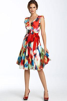 Летние платье с запахом фото