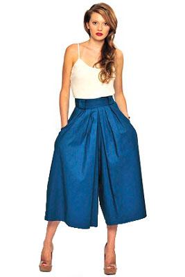 Женские брюки юбка фото