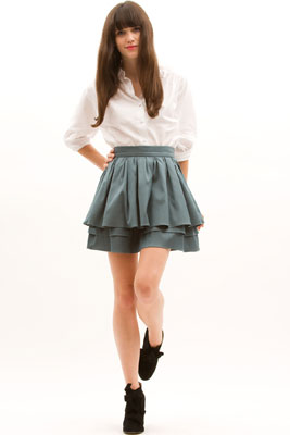 Модели юбок с оборкой