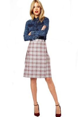 Кому можно носить юбку в складку