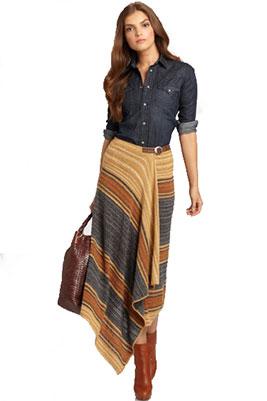 длинные юбки с запахом фото