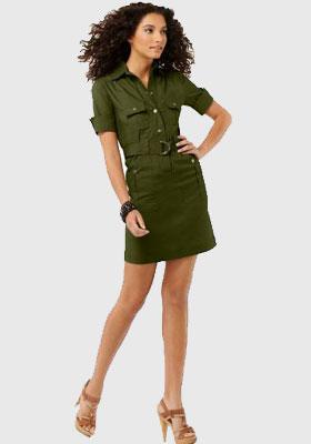 Платье в военном стиле купить в
