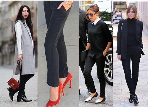 Узкие черные брюки