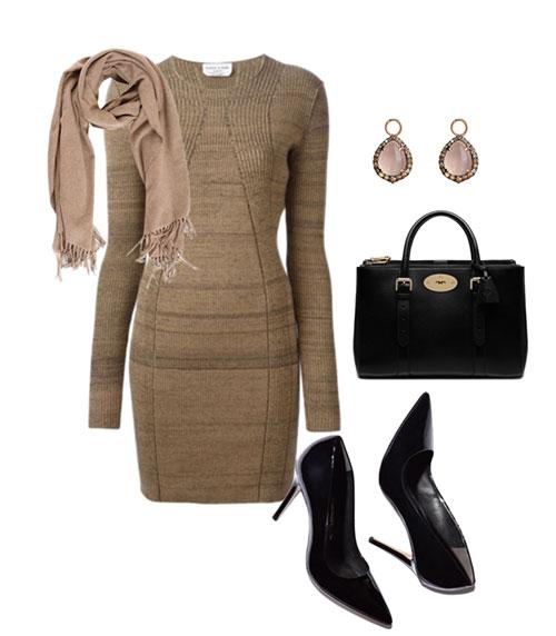 Красно коричневое платье фото