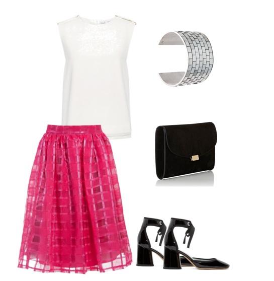 С чем носить розовую юбку