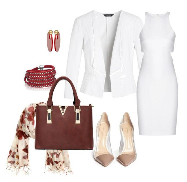 С чем носить белое платье Клатч Конверт Белый