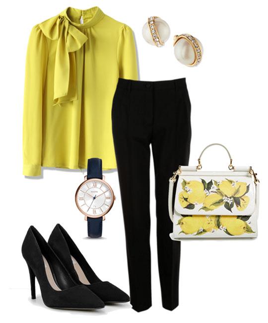 Жёлтый и чёрный цвет