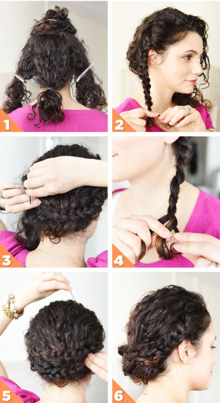Красивые укладки на вьющиеся волосы: фото