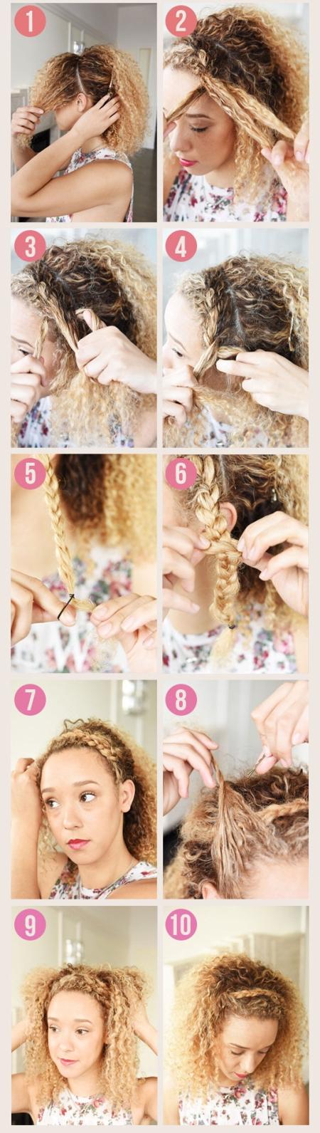 Обруч из волос: фото