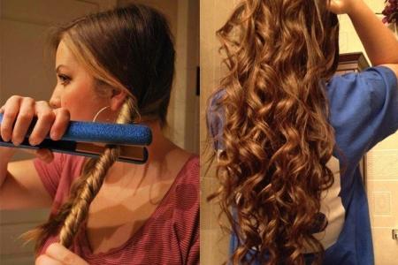 Локоны на длинные волосы: фото