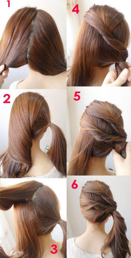 Красивые, легкие и простые прически на средние волосы на ...