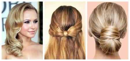 Вечерние прически на средние волосы: фото