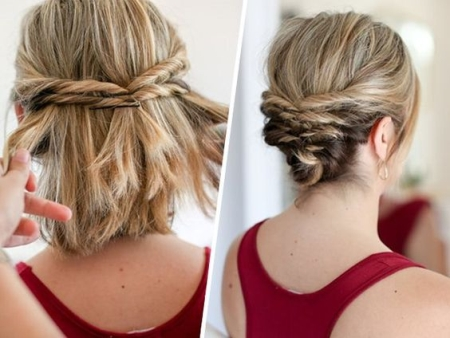 прически средние волосы на короткие волосы фото