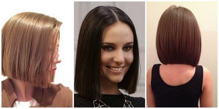 классическое каре на средние волосы: фото
