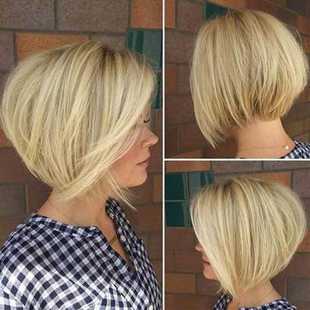градуированное каре на средние волосы: фото