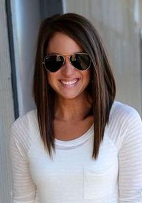 удлиненное каре на средние волосы: фото