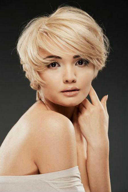 Стрижки на короткие волосы для квадратного лица: фото