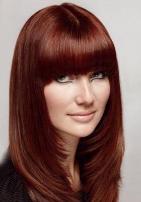 Стрижки на длинные волосы с длинной челкой: фото