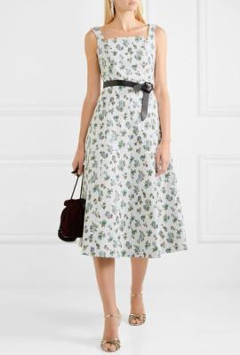 Платье с мелким принтом