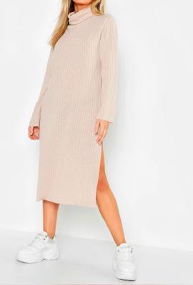 Платье миди с разрезом по бокам