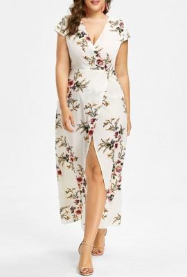 Платье с принтом среднего размера