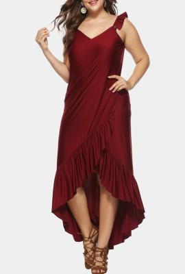 Платье с запахом с драпировкой