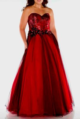 Платье с корсетом для полных женщин низкого роста