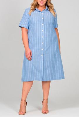 Короткое трапециевидное платье