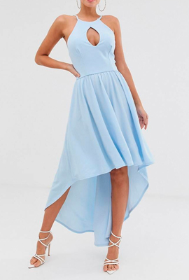 Платье с подолом разной длины