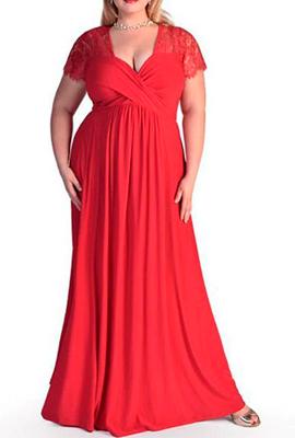 Вечернее платье для полной фигуры невысокого роста