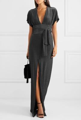 Платья с боковыми разрезами и вертикальными драпировками для женщин маленького роста
