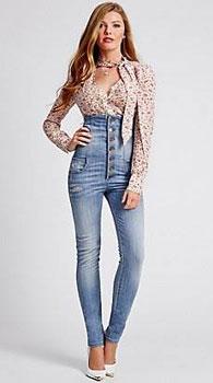 джинсы с высокой талии с чем носить фото