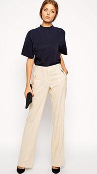 1035a66af541 Женские прямые брюки | С чем носить прямые брюки и их длина