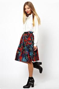 Стиль юбки полусолнце